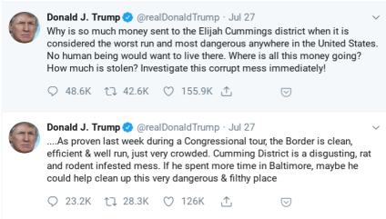 Trump Baltimore Tweets Ex 3